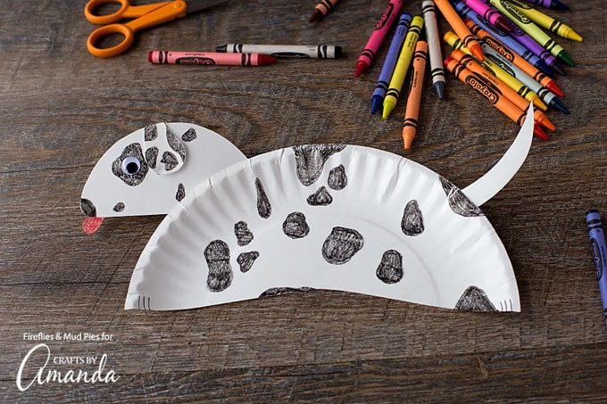 Now your child's paper plate dalmatian is complete. Wouldn't it be fun to deliver paper plate dalmatians to a local fire station, complete with a thank you note and a plate of cookies?