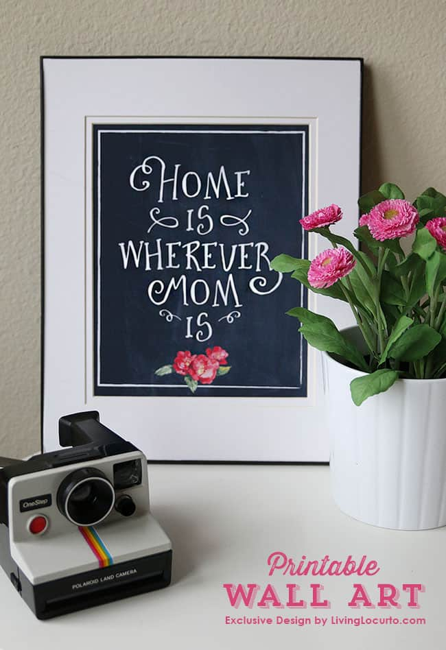 Gift mom with a precious Mother's Day printable photo!