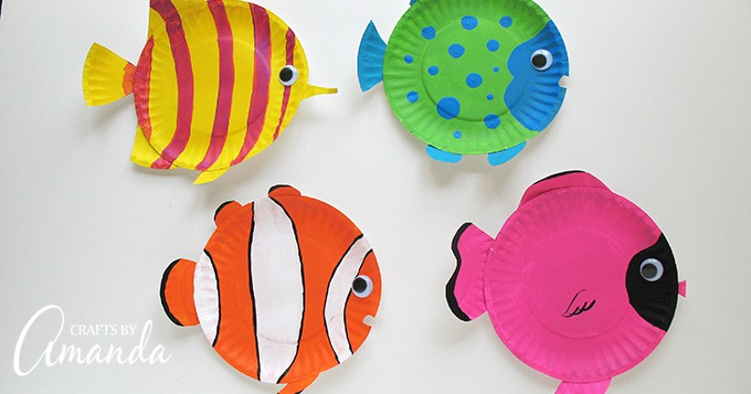 Paper Plate Tropical Fish Craft