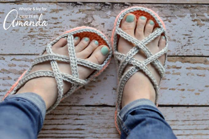 I hope you enjoy your new spring crochet sandals! I love having these light slippers on my feet, and I am so excited that spring is around the corner.