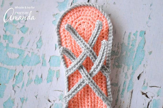Crochet slipper sandals