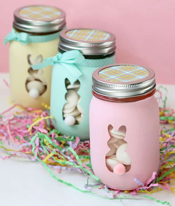 Easter Bunny Mason Jars: An Adorable And Easy Easter Craft