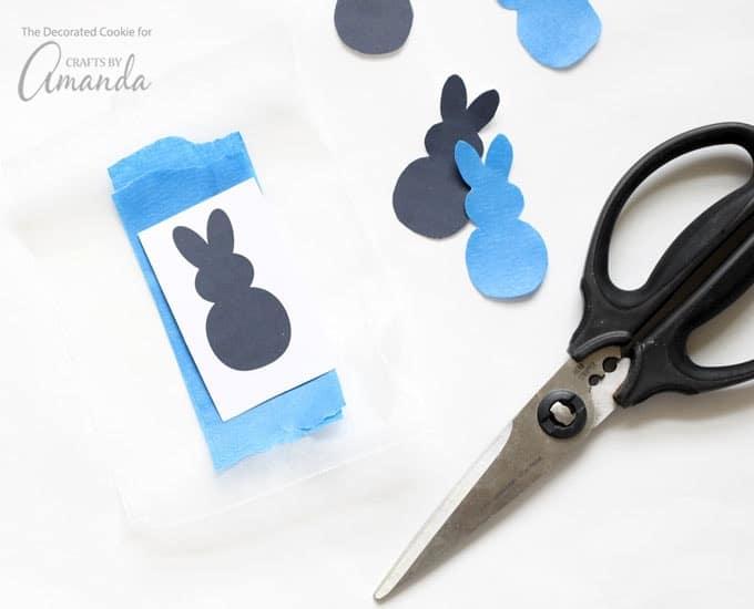Easter bunny mason jar silhouette sticker