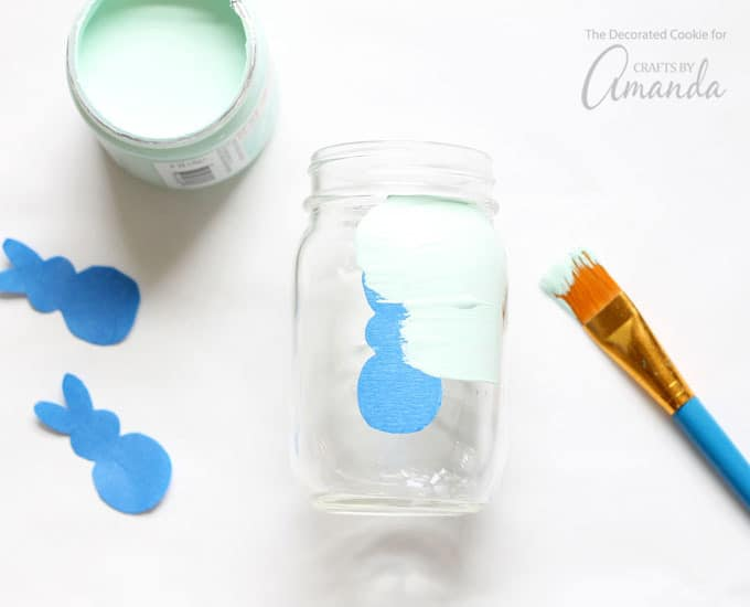 Painting your Easter bunny mason jars