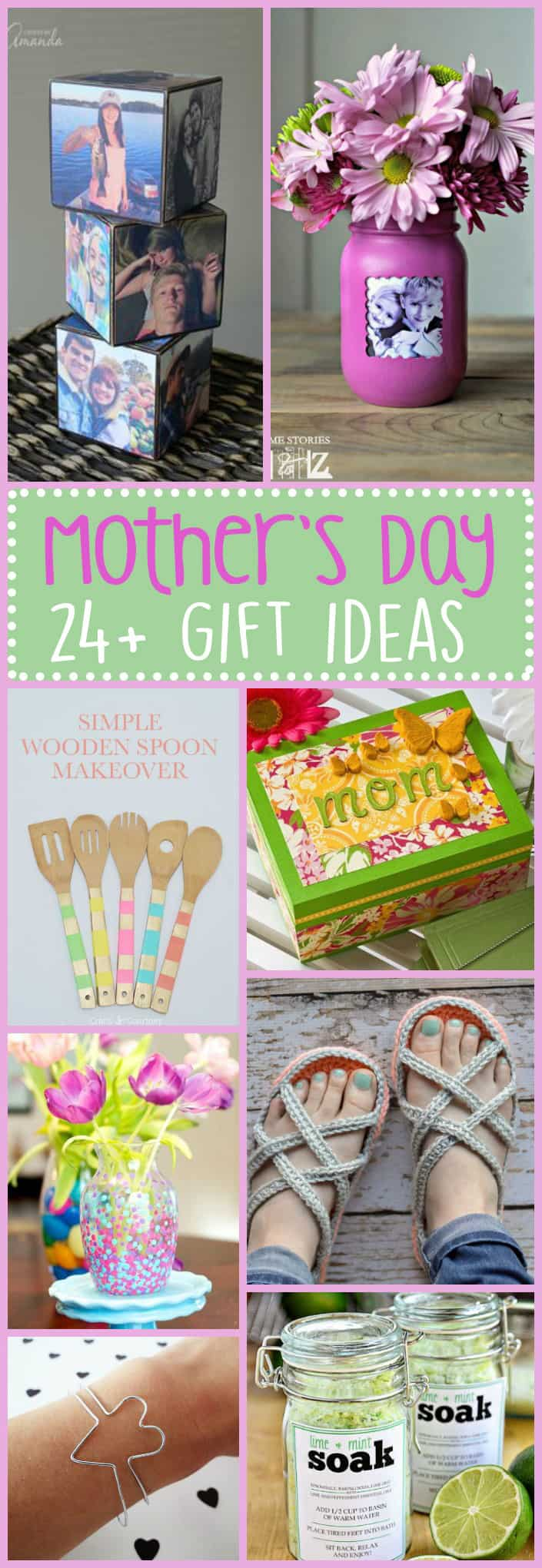 These Mother's Day Gift Ideas are sure to bring a smile to your mom's face on Mother's Day. A roundup of great adult crafts to shower your mom with love!
