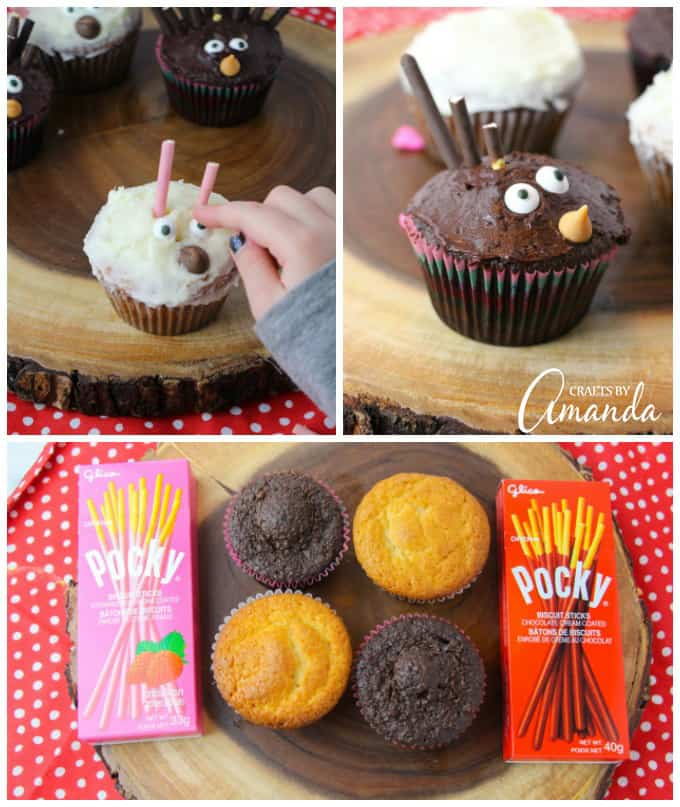 So much fun making porcupine cupcakes, and they're easy enough for kids to help with!