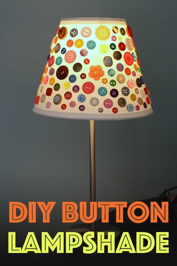 Learn how to make this cute Button Lamo Shade