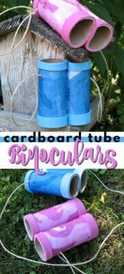 cardboard tube binoculars pin image