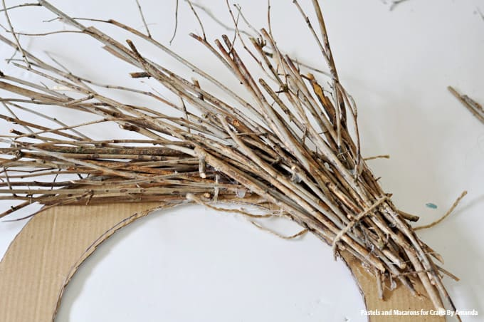 Securing twigs with twine