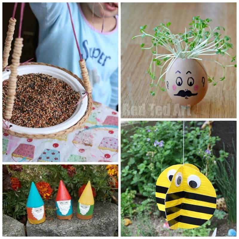 Simple and fun kids garden craft ideas!