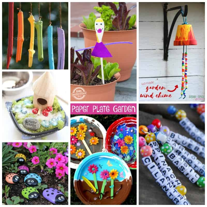 From easy to a little more challenging, we've got it all in this Kids Garden Craft Roundup!