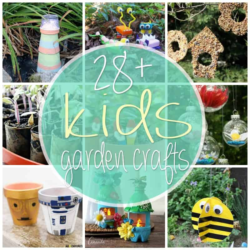 Kid\'s Garden Crafts: 28+ creative ideas for the little ones