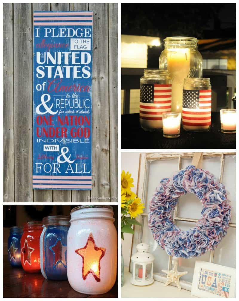 Easy home decor Memorial Day crafts