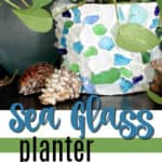 sea glass planter pin image