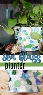 sea glass planter pin image