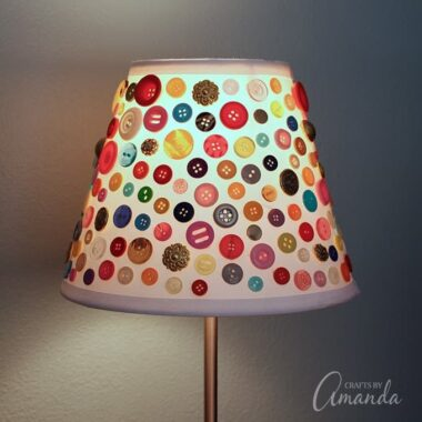 This cute button lamp shade is a great craft for all ages. You don't have to be particularly skilled to conquer this button masterpiece!