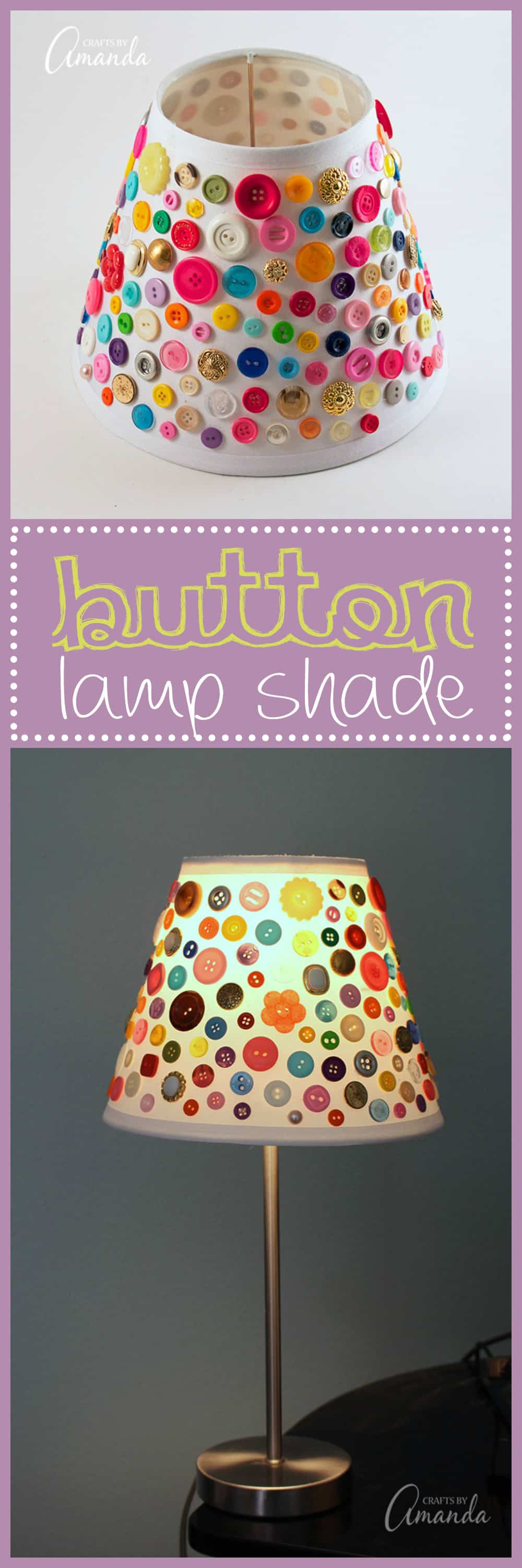 Adorable Button Lamp Shade