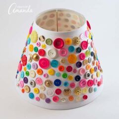 Pretty button lamp shade!