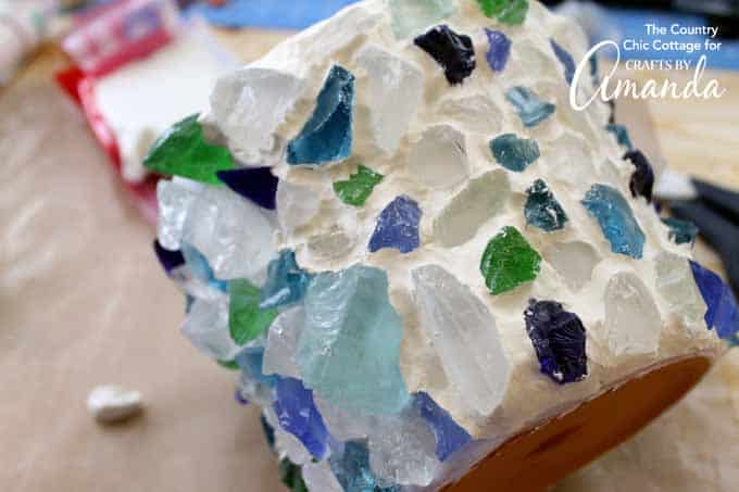 sea glass planter step 7