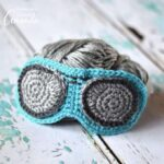 Aviator Sunglasses Sleep Mask Crochet Pattern