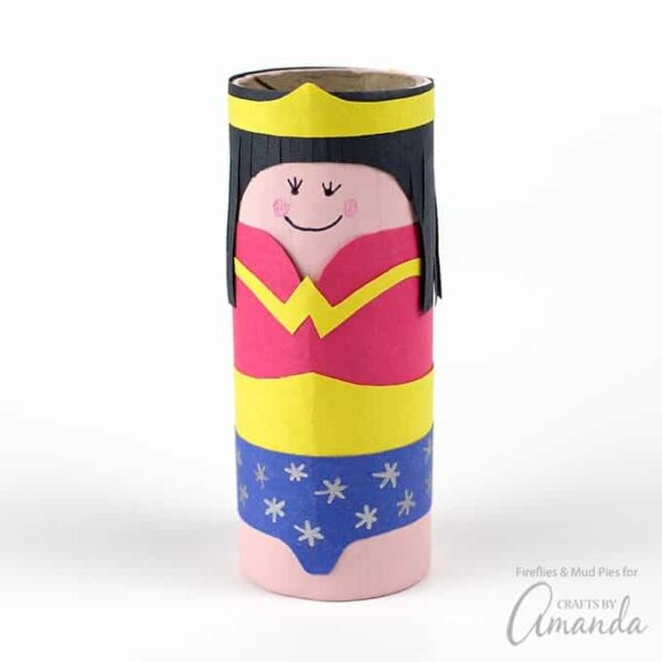 Cardboard Tube Wonder Woman