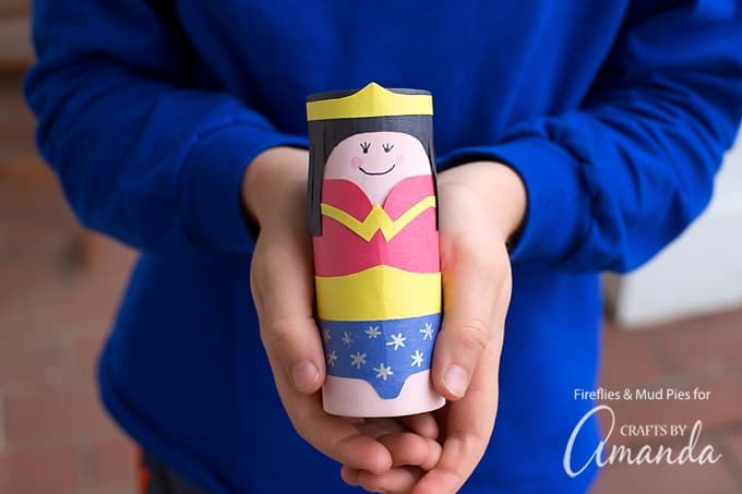 In this post, learn how to make a Cardboard Tube Wonder Woman, simply perfect for imaginative play and for celebrating The Wonder Woman Movie release.