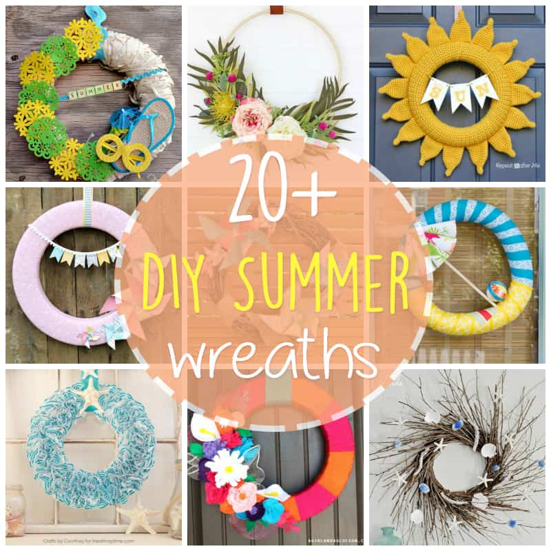 20+ DIY Summer Wreath Ideas