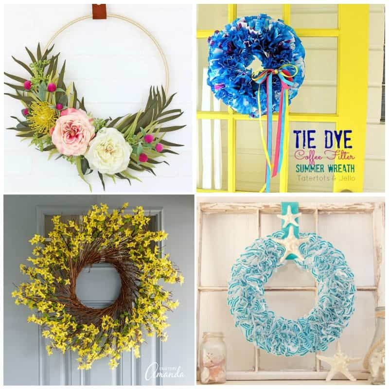 Summer wreath crafts
