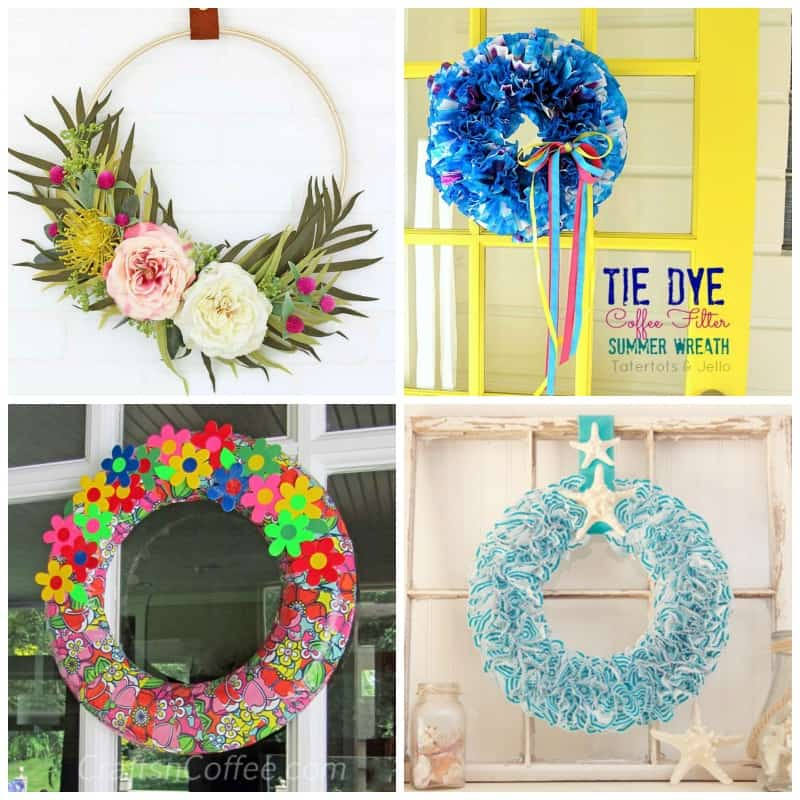 20+ DIY Summer Wreaths to add to your front door!