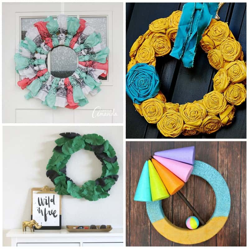 Summer wreaths craft