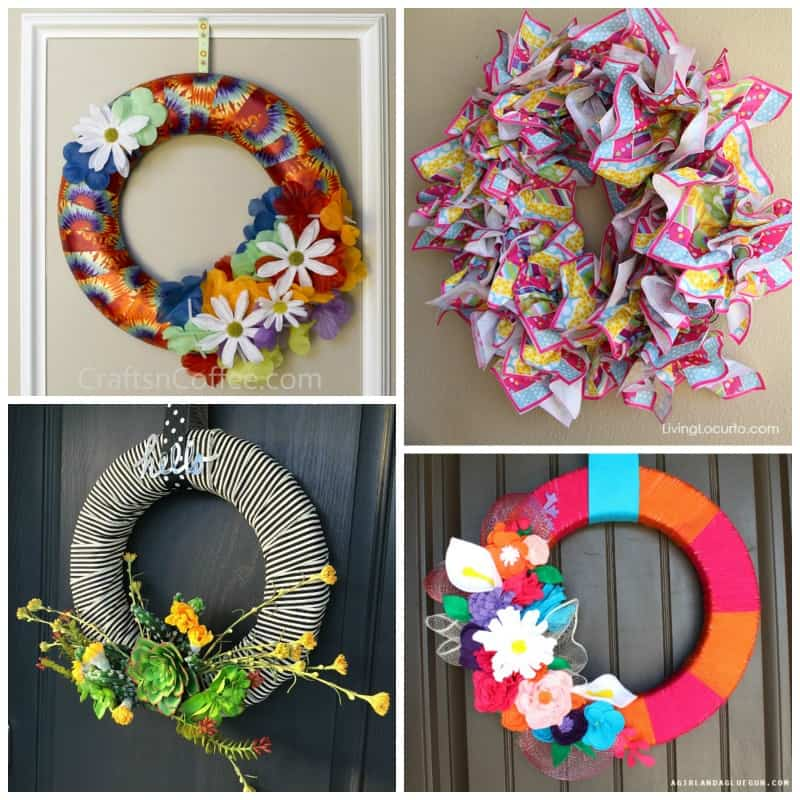 In these 20 + DIY Summer Wreaths we have everything from coastal to paper to fabric wreaths to choose from!