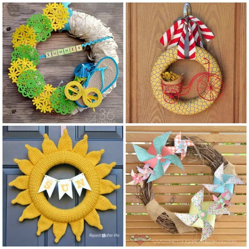 We hope you find loads of inspiration from this collection of 20+ DIY Summer Wreaths!
