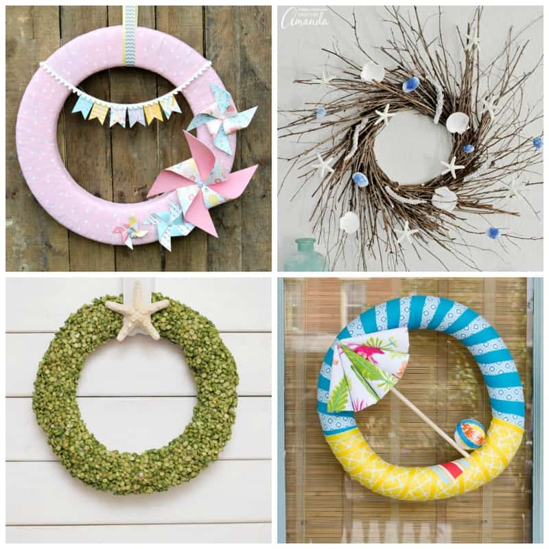 Tons of beautiful DIY summer wreaths