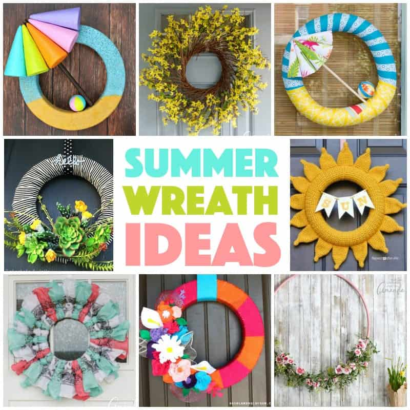 Lots of different ideas for summer wreath projects