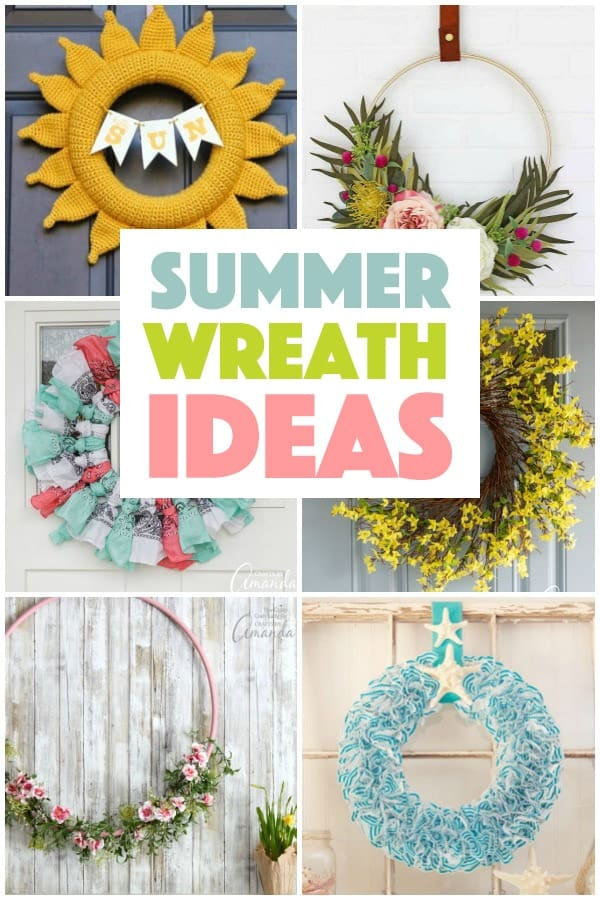 Summer wreath craft projects for your door