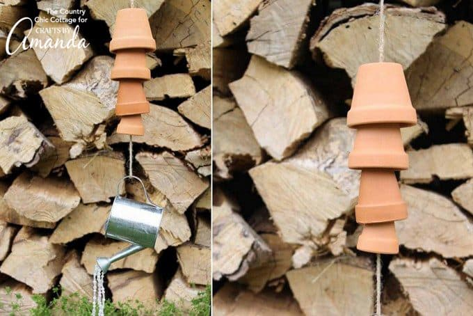 Beautiful terra cotta pot wind chimes!