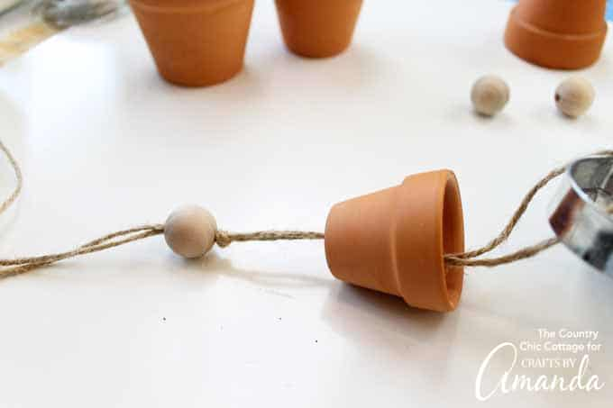 Terra Cotta Pot Wind Chimes step5
