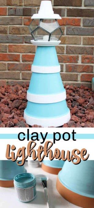 clay pot lighthouse pin image