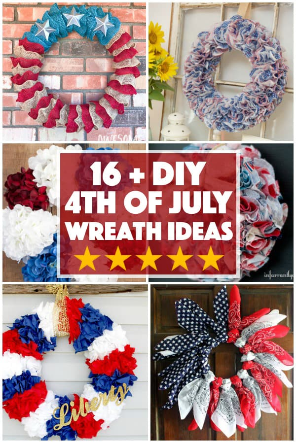 Ring in the celebration with these DIY July 4th Wreaths The perfect staple to commemorate the holiday and to display with pride.