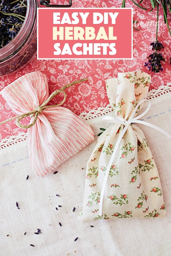 Learn to make simple herbal sachets for your dresser drawer or to hang in your car. The subtle aroma of herbal sachets is calming and they're easy to make!