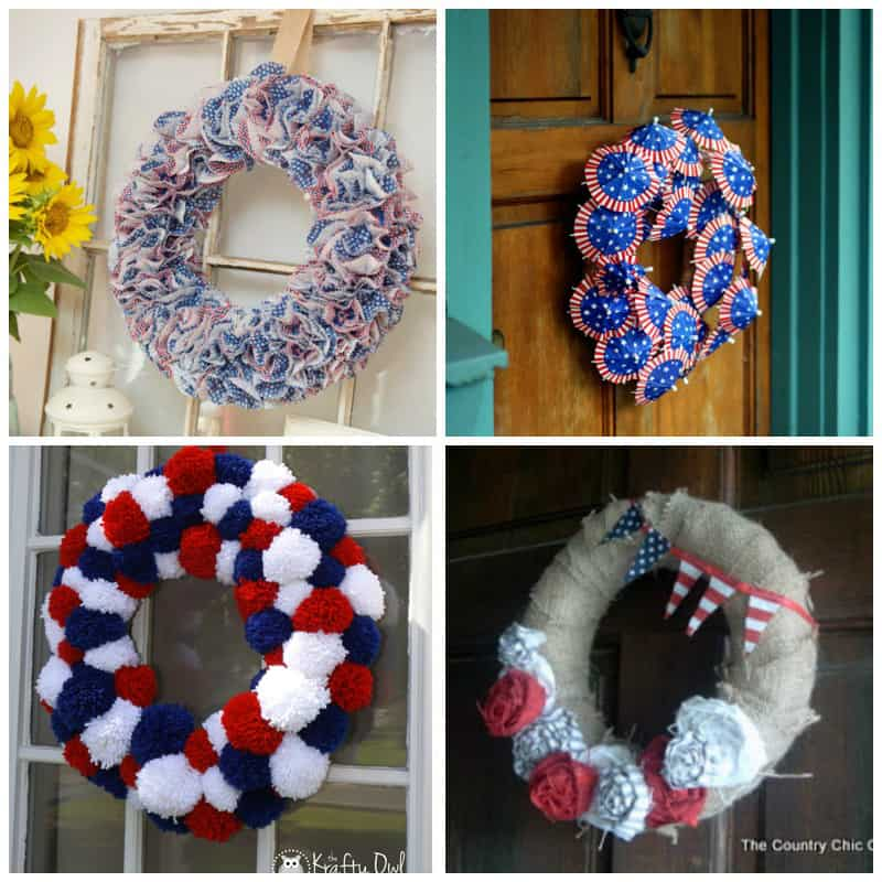Round up of Fourth of July wreaths