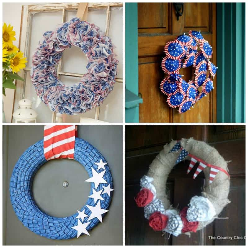 Patriotic July 4th Wreaths