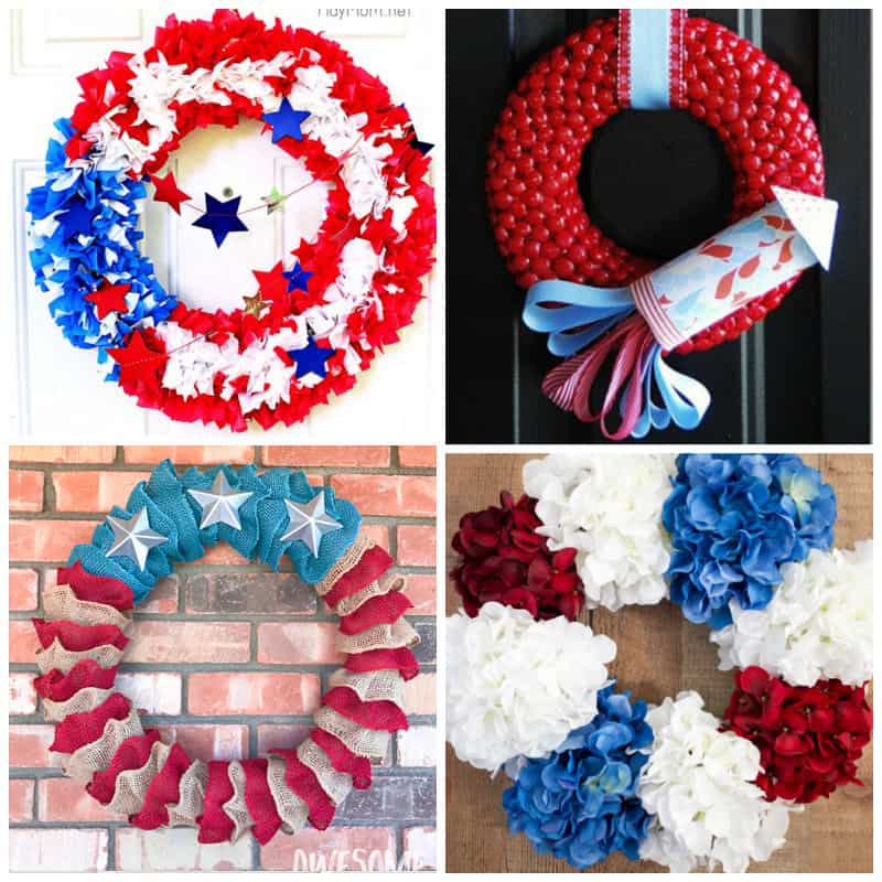 How to make Patriotic Fourth of July Wreaths