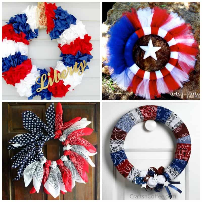 Love these July 4th Wreaths!