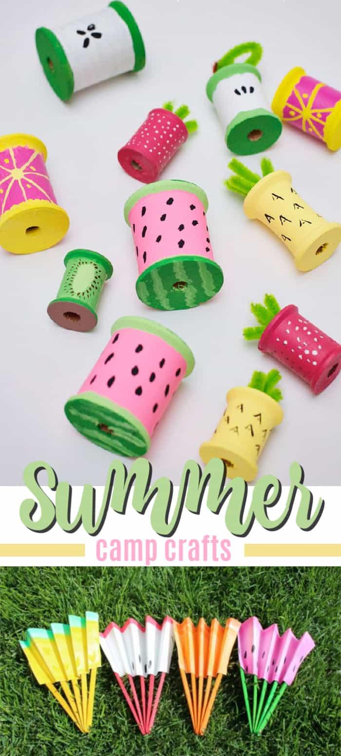 summer camp crafts pin image