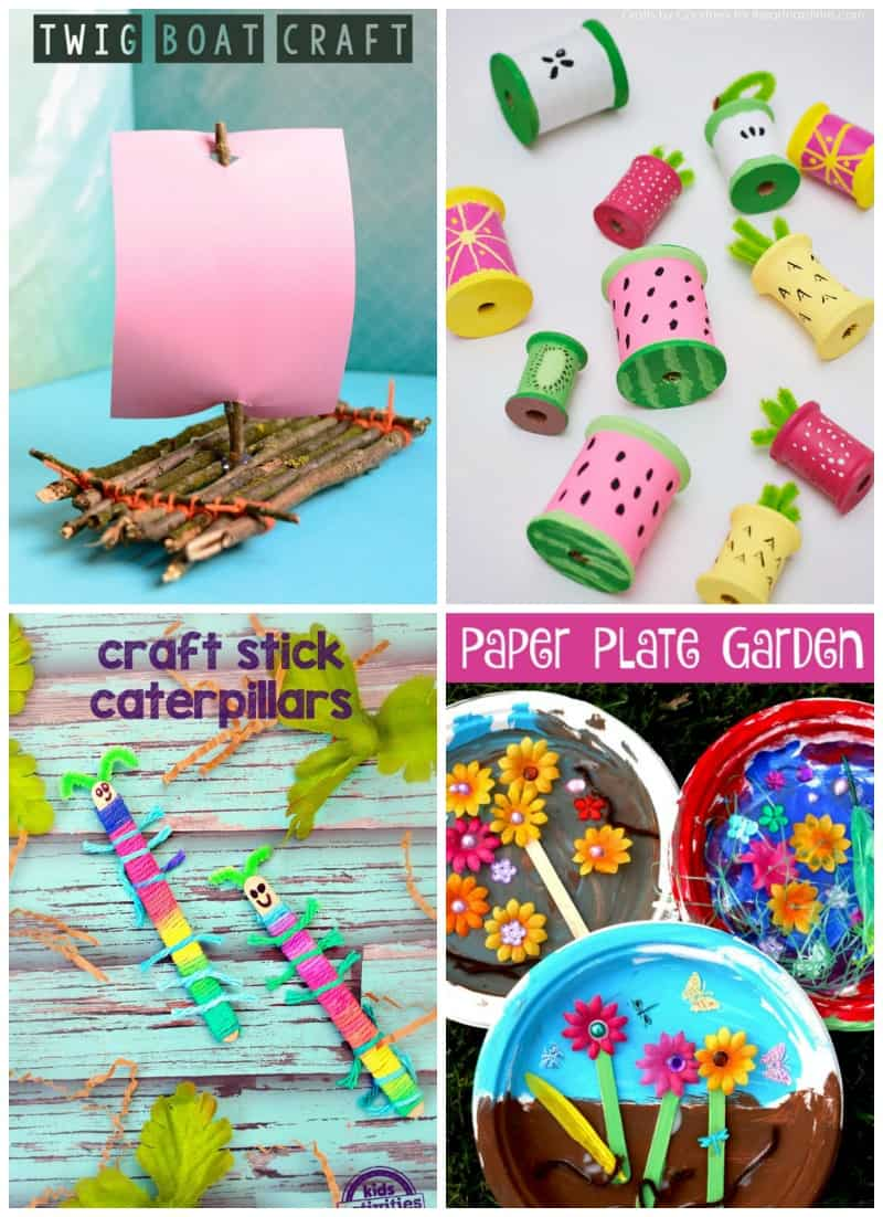 Lots of adorable ideas for summer camp crafts!