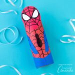 Make an easy and fun Cardboard Tube Spiderman with your kids. It's simply perfect for imaginative play and just in time for the upcoming movie!