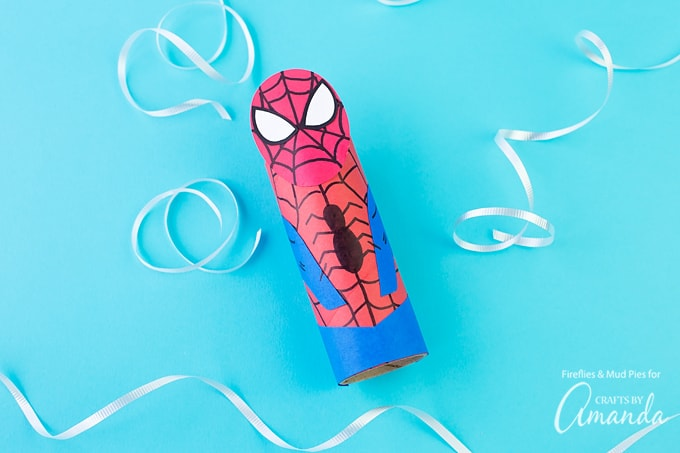 Cardboard Tube Spiderman Craft