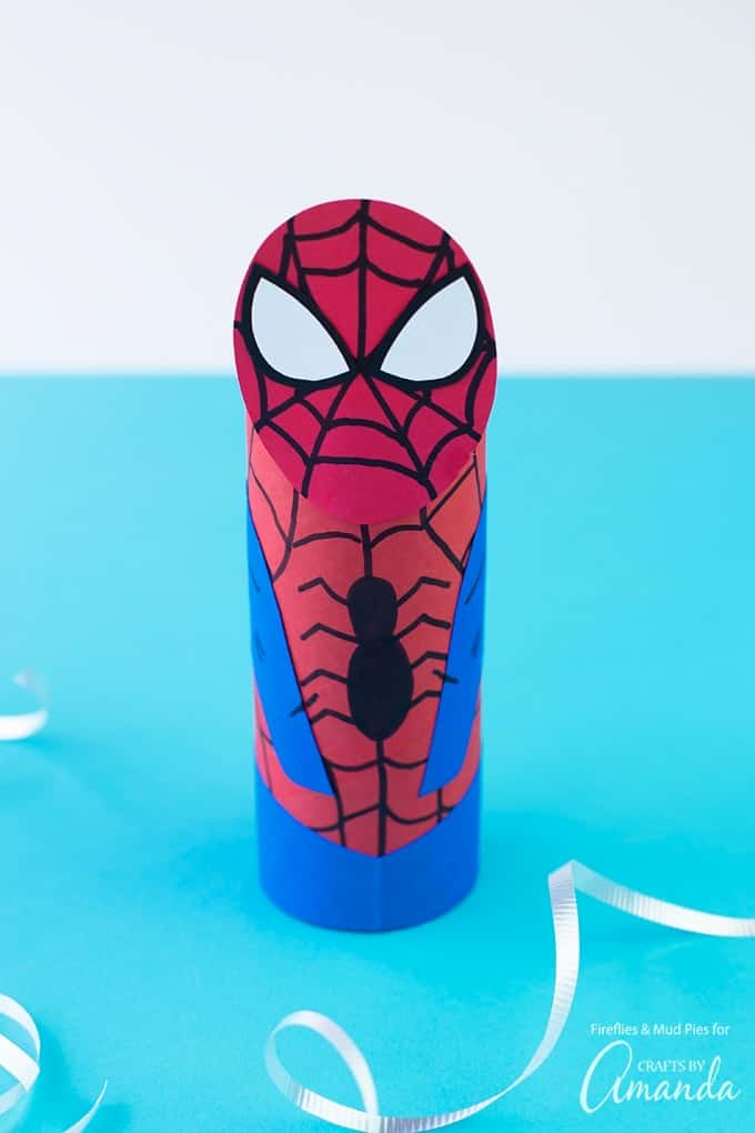 Awesome cardboard tube spiderman, just in time for the new movie!
