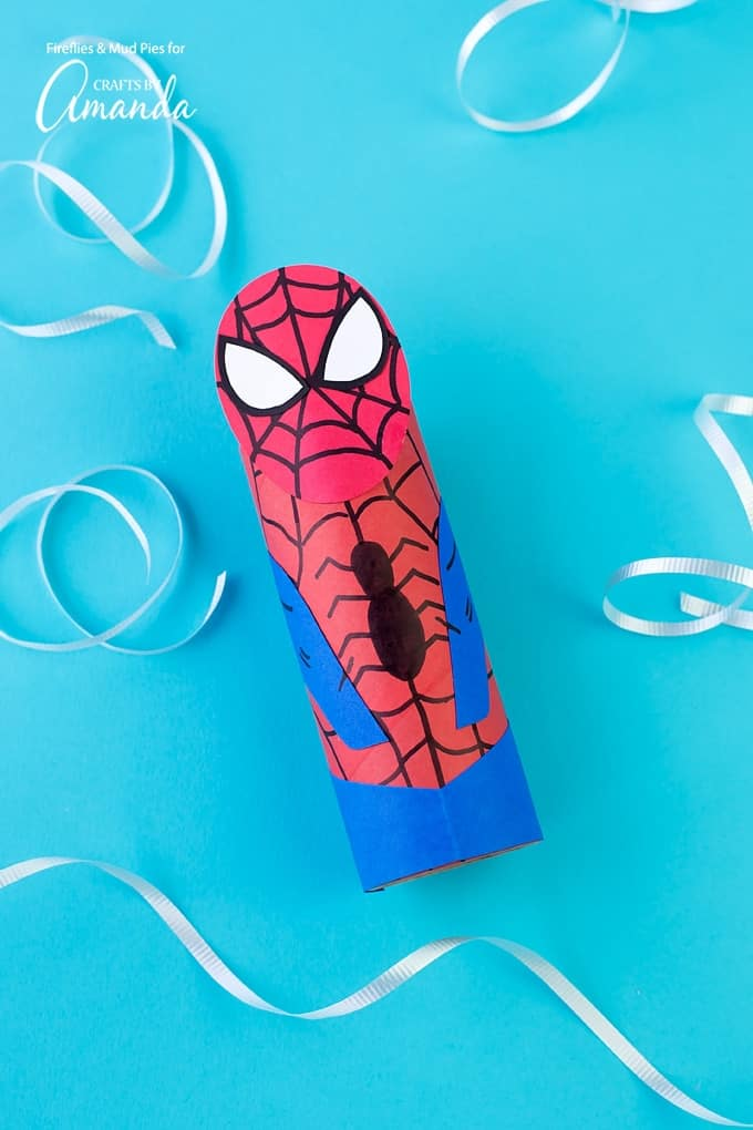 This cardboard tube Spiderman is the perfect recycled craft AND is great for imaginative play!